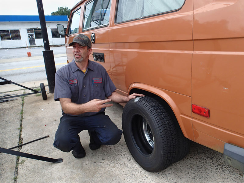 Mike the mechanic explains how bigger tires will benefit us.