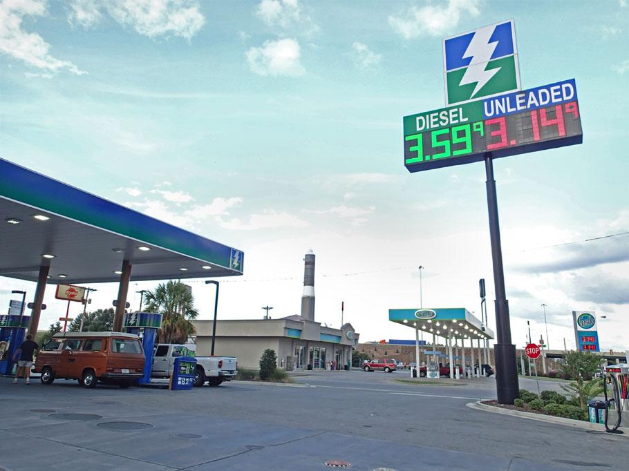 Stop to get diesel.