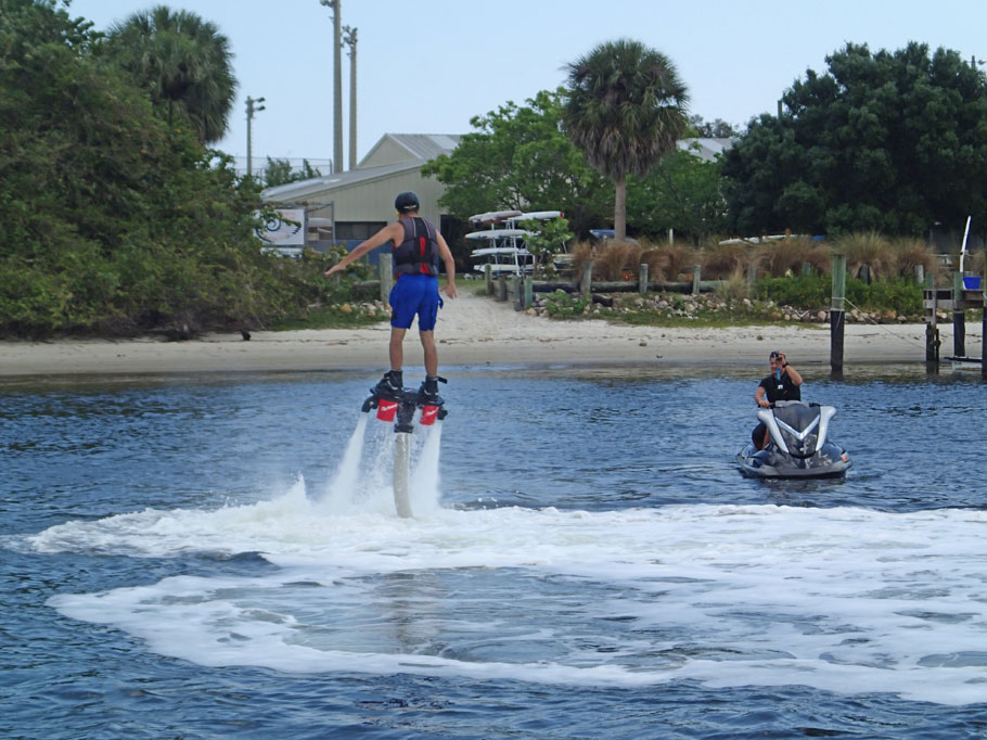 Jet Pack! Sometimes you see some pretty wild things on the ICW.