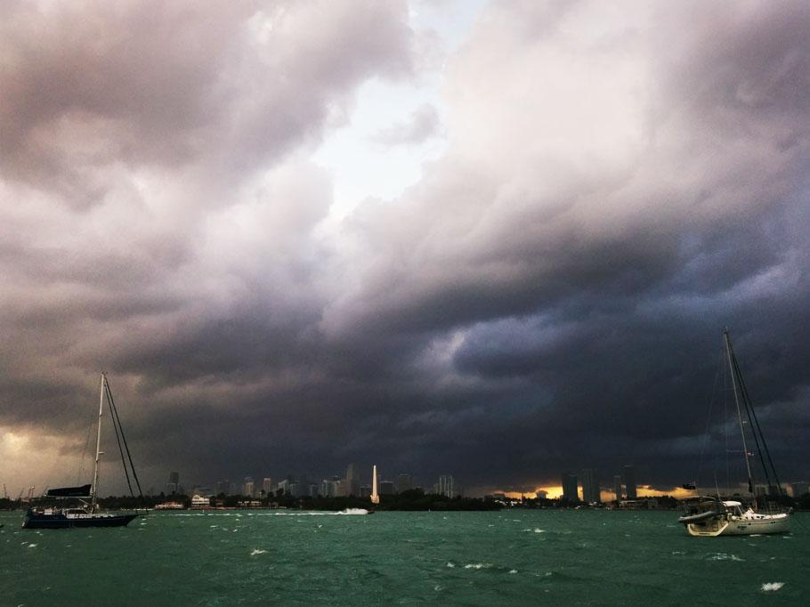 Storm over Miami.
