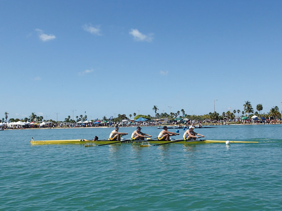 Rowing competition in Marine Stadium.