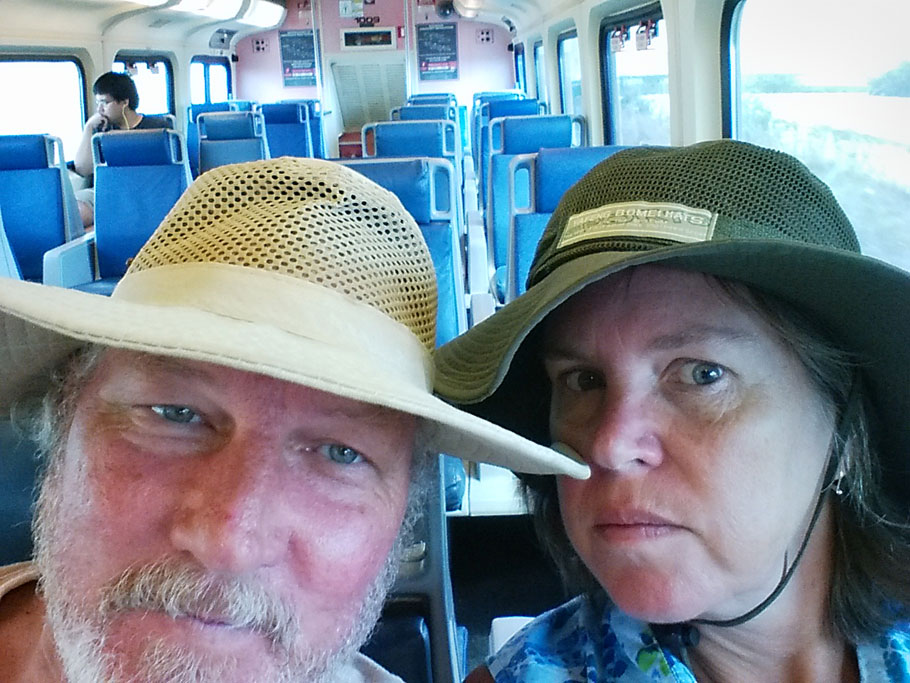 Greg and Duwan on the train to Ft. Lauderdale.