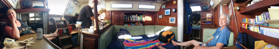 Hanging out below decks.  **Click to enlarge this picture**