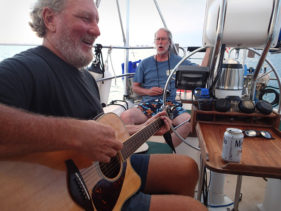 Jamming on the boat - Duwan's view.