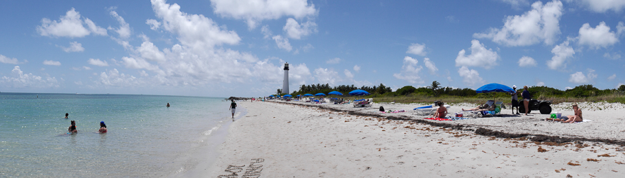 The lighthouse over looking the beach on Key Biscayne. - photo by David Littlejohn **click to enlarge this photo**