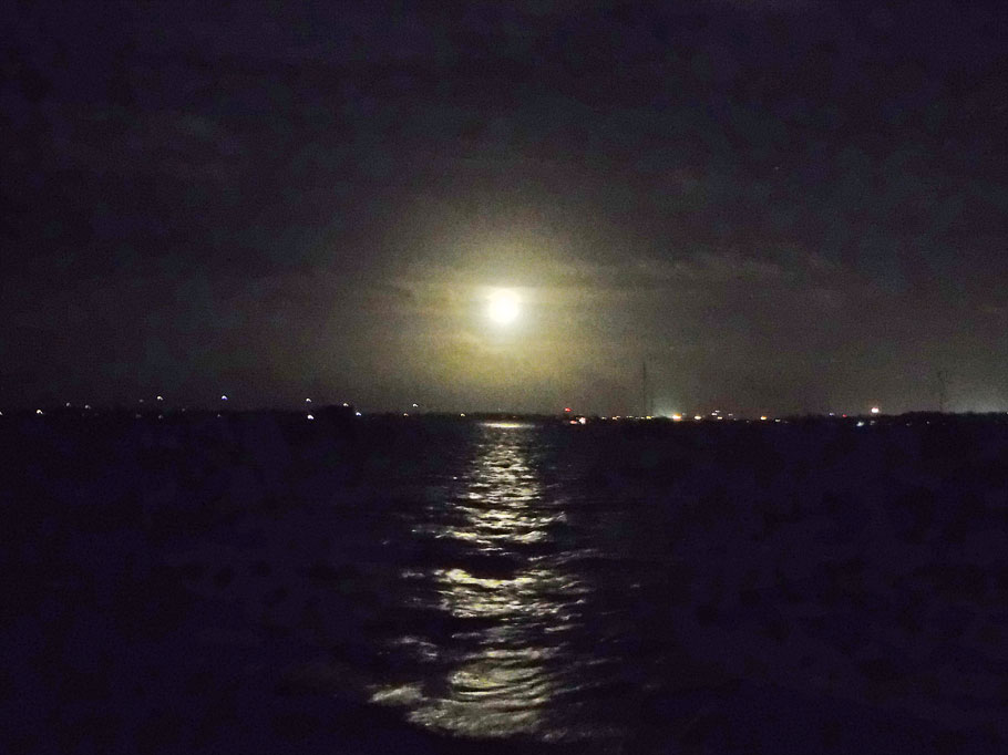 Moon rise over Key West.