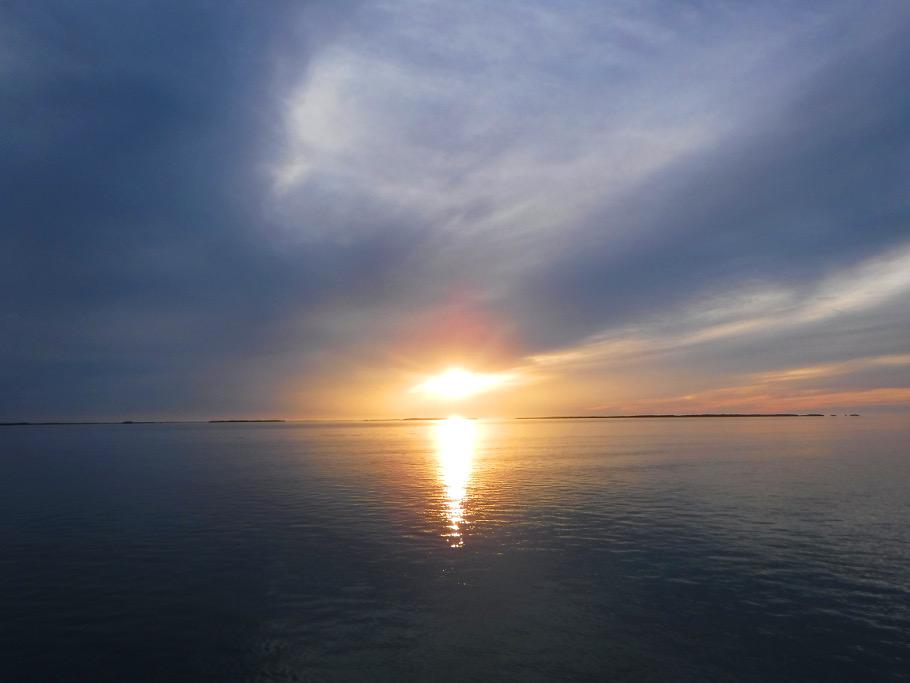 Sunset at Tarpon Belly Key.