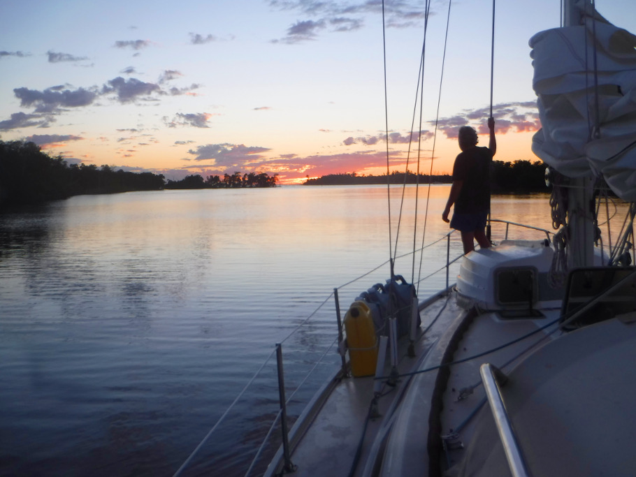 Sunset at Shark River.
