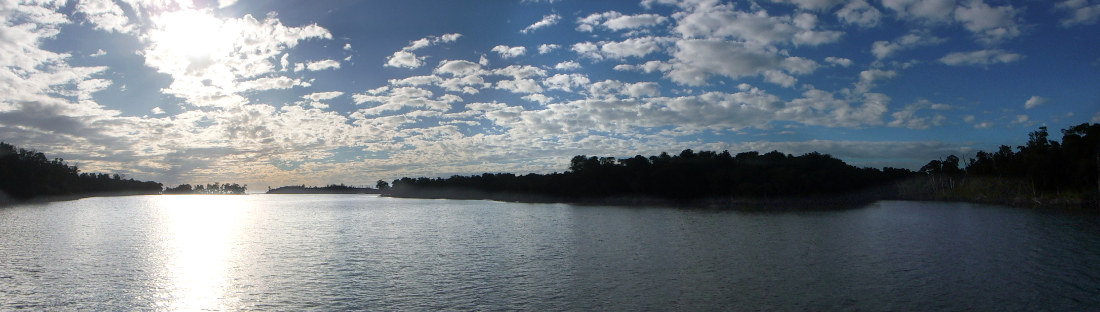 View of Shark River to the west. (This pic is click to enlarge.)