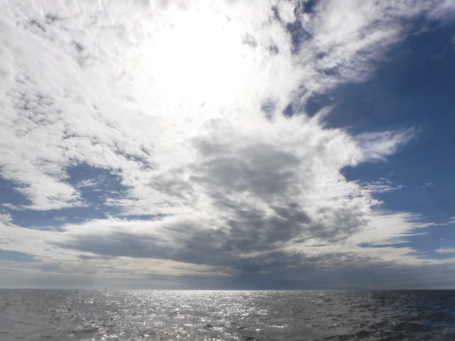Water and sky in the Gulf of Mexico as we cross from the Keys to mainland Florida.