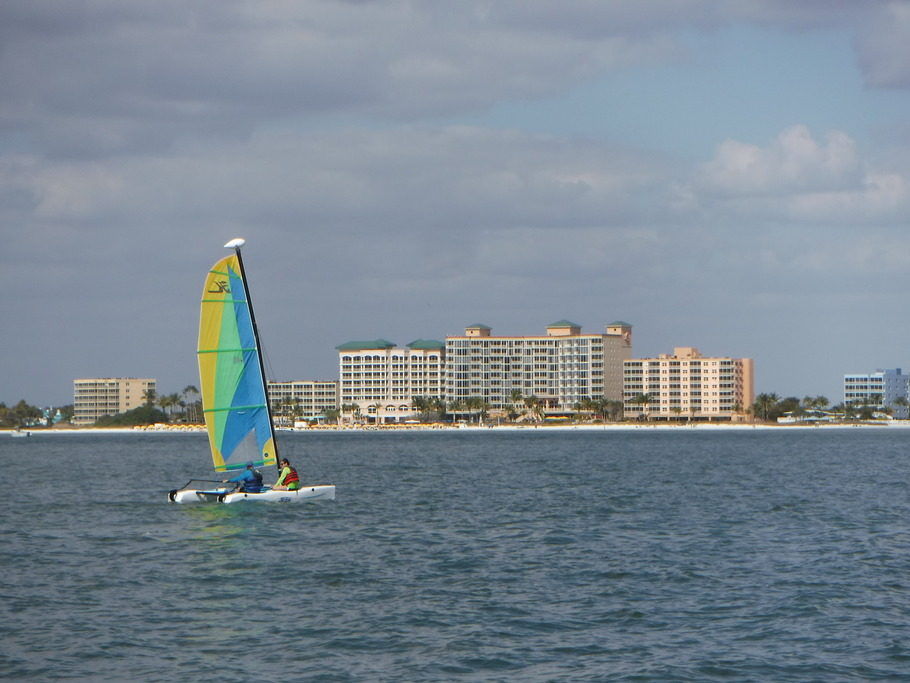 Back in the land of water sports and beach dwelling with the high rises of Fort Myers Beach.
