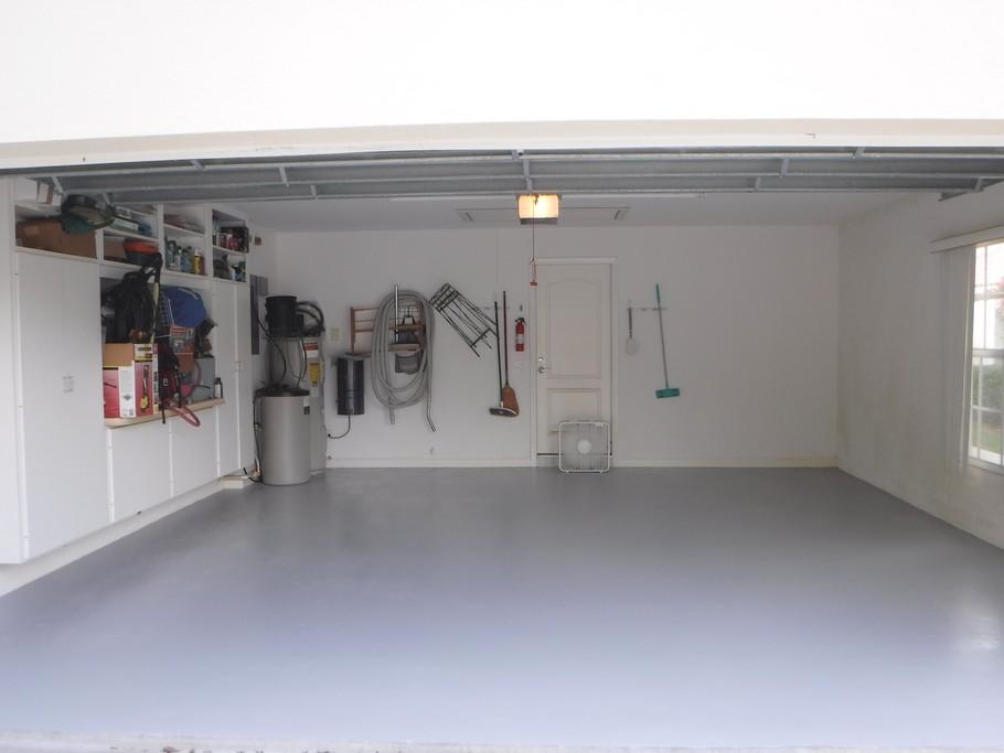 Garage floor painted.
