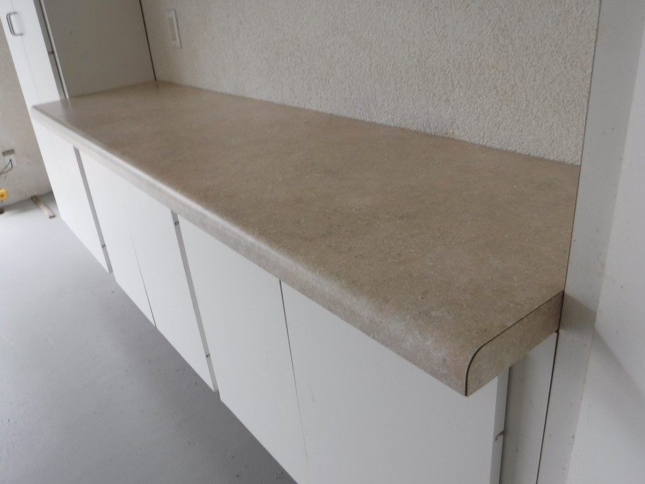New counter top on work bench.
