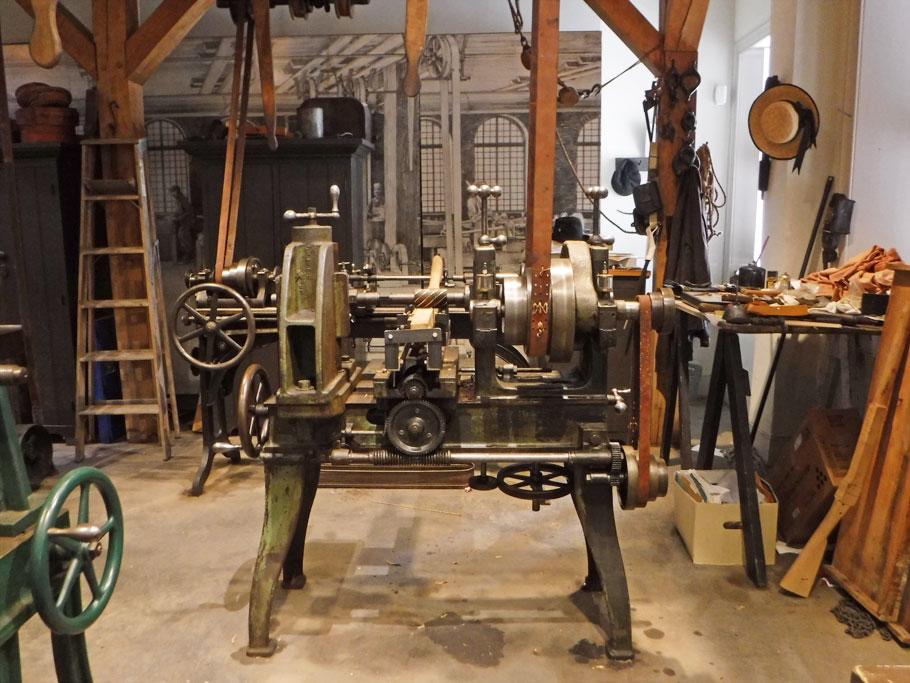 Industry Museum. This machine makes gun stocks.