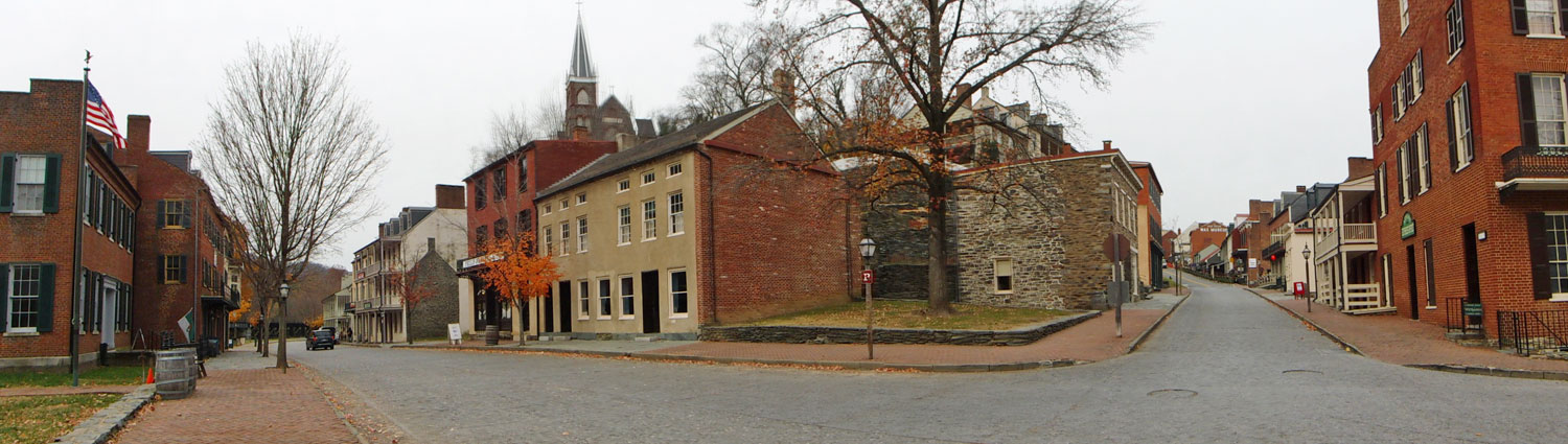 Harpers Ferry, the corner of Shenandoah and Patomac Streets. (click this pic to enlarge)