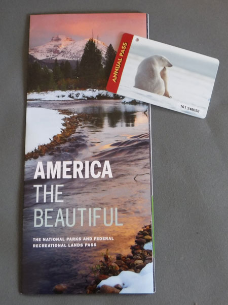 Our American the Beautiful National Park pass. Only $80.