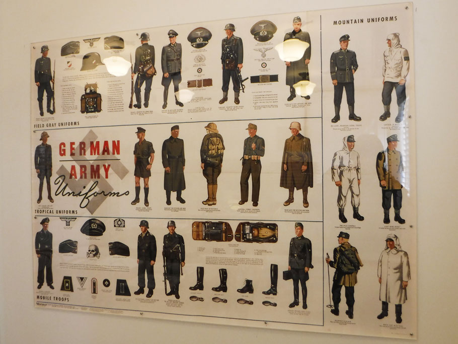 Poster designed to help recruits identify German soldiers.