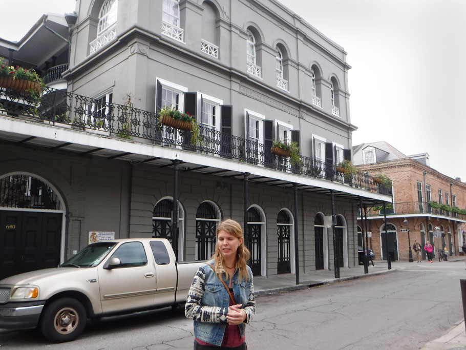 Ariadne slips into Ghost Tour Guide mode as she tells us about the Lalaurie Mansion and Madame Lalaurie who kept and tortured slaves in her attic  in the early 1800s. The terrifying truths of Madame Lalaurie's grizzly deeds were only discovered when a fire broke out in the mansion's kitchen and fire fighters found a slave chained to the stove. As stories of the tortured slaves got out a mob ransacked Madame Lalaurie's home and drove her from the city.