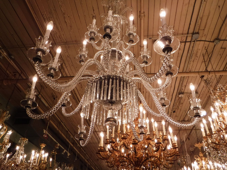 We visited one of Ariadne's friends whose family owned a chandelier shop in the Quarter. Most of these chandeliers come from Europe. They have to be completely disassembled in order to be shipped. Needless to say, they cost a pretty penny.