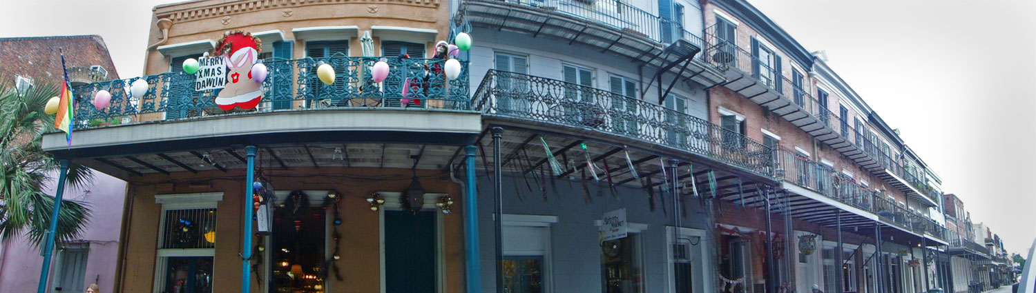 Balconies in the French Quarter. It was Christmas time when we visited.