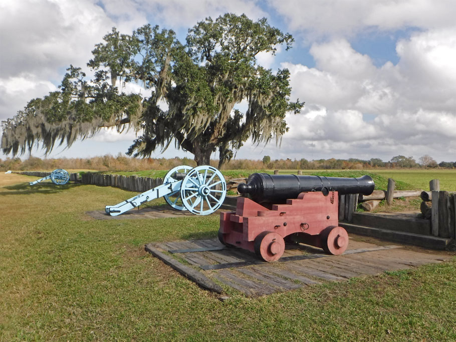 The American defense line at Chalmette.